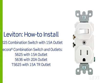 wiring a switched outlet combo Leviton Presents:, to Install a Combination Device with a Single Pole Switch, a Receptacle 12 Most Wiring A Switched Outlet Combo Photos