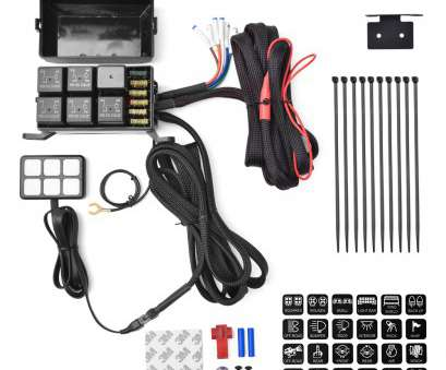 wiring a vehicle switch 6 switch panel relay control, + wiring harness, vehicle with, DC power Wiring A Vehicle Switch Popular 6 Switch Panel Relay Control, + Wiring Harness, Vehicle With, DC Power Solutions