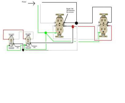 wiring diagram 3 way switch split receptacle how do i go about wiring, split  circuit