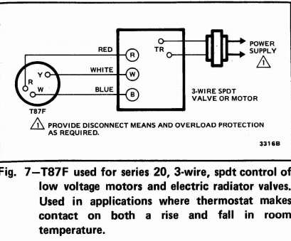 wiring diagram of thermostat cleaver 3-wire spdt honeywell t87f  thermostat wiring diagram galleries
