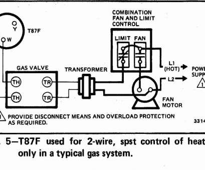wiring diagram of thermostat Honeywell T87F Thermostat wiring diagram, 2-wire, spst control of heating only in Wiring Diagram Of Thermostat Most Honeywell T87F Thermostat Wiring Diagram, 2-Wire, Spst Control Of Heating Only In Pictures