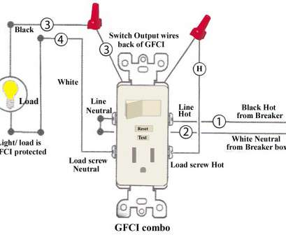 wiring diagram switched gfci outlet how to install, troubleshoot gfci, combo switch outlet wiring rh autoctono me GFCI Wiring-Diagram GFCI Circuit Breaker Wiring Diagram 17 Creative Wiring Diagram Switched Gfci Outlet Photos
