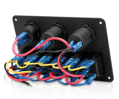 wiring a 6 gang switch panel 6 gang, marine boat, rocker switch panel, charger voltmeter rh ebay com Wiring, Gang Switch Panel Professional 6 Gang, Marine Boat, Rocker Switch Panel, Charger Voltmeter Rh Ebay Com Collections