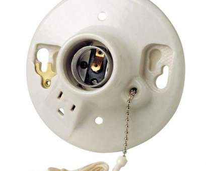 wiring porcelain light fixture in series Leviton 9726-C2 One-Piece Glazed Porcelain Outlet, Mount Incandescent Lampholder, Pull Chain,, Wired, White, Light Sockets, Amazon.com 13 Brilliant Wiring Porcelain Light Fixture In Series Galleries