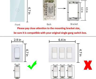 wiring a 4 switch gang box Smart Wifi Light Switch, Touch Wall Switch Panel, Replace 1 Switch in a Single Wall Box, Compatible with Alexa, Smartphone, Control, Amazon.com Wiring, Switch Gang Box Fantastic Smart Wifi Light Switch, Touch Wall Switch Panel, Replace 1 Switch In A Single Wall Box, Compatible With Alexa, Smartphone, Control, Amazon.Com Collections