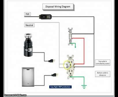 wiring switched outlet for garbage disposal Switched Outlet Wiring Garbage Disposal Diagram, How To Wire A regarding Fantastic Garbage Disposal Wiring 10 Nice Wiring Switched Outlet, Garbage Disposal Collections