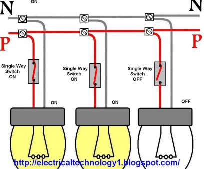 Wiring Up A Light Switch Creative Wiring A Light Switch Control Each Lamp By Separately At, To Wire Lights In Parallel With Diagram Photos