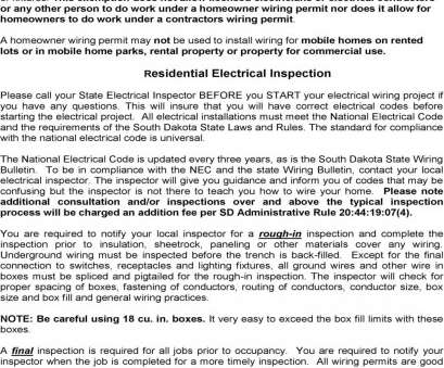 Wisconsin Residential Electrical Wiring Code Most HomeOwner Wiring. Please Remember, Are Required To Contact Your Galleries