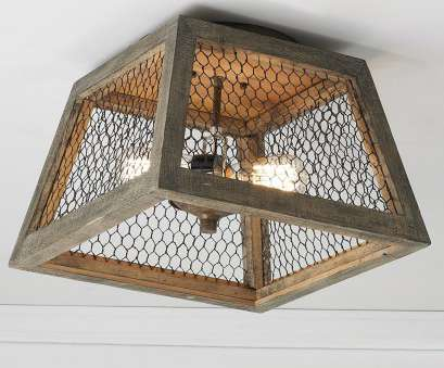 wood and chicken wire pendant light Chicken Wire Square Shade Ceiling Light, Shades of Light 20 New Wood, Chicken Wire Pendant Light Solutions