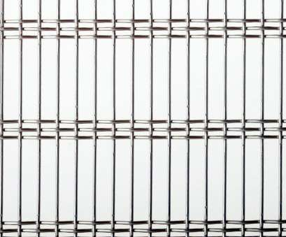 woven wire mesh galvanized facade woven wire fabric / stainless steel / galvanized steel / elongated mesh, CIVIC 520 15 Cleaver Woven Wire Mesh Galvanized Collections