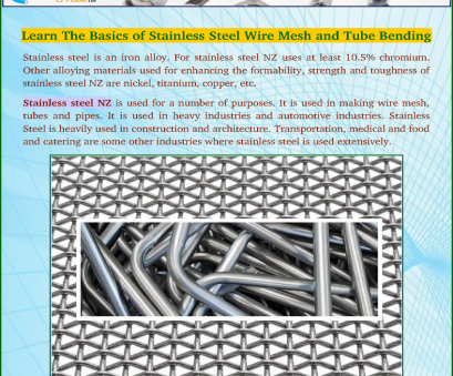 woven wire mesh nz Learn, Basics of Stainless Steel Wire Mesh, Tube Bending Woven Wire Mesh Nz Perfect Learn, Basics Of Stainless Steel Wire Mesh, Tube Bending Images