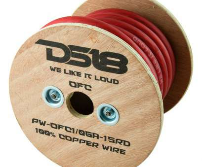 zero gauge speaker wire DS18® PW-OFC1/0GA-15RD -, Gauge, Red Power Wire Zero Gauge Speaker Wire Cleaver DS18® PW-OFC1/0GA-15RD -, Gauge, Red Power Wire Collections