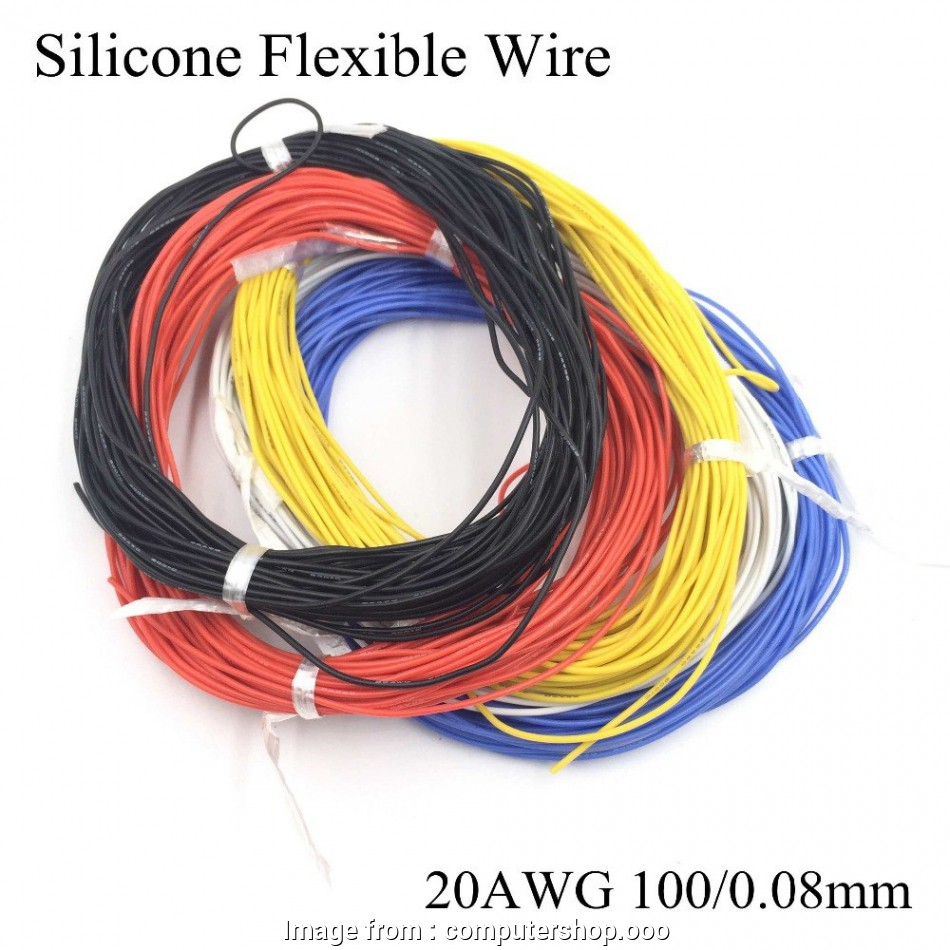 tinned copper electrical wire 5Meter/lot 20AWG Silicone Electric Wire Ultra Flexible Test Line High Temperature Tinned Copper, Soft Model Conductor Cable 10 Simple Tinned Copper Electrical Wire Galleries