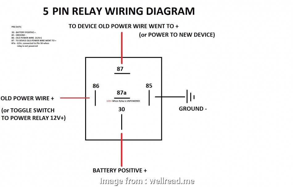 toggle switch to relay wiring 10, Relay Wiring Diagram 5 Connection Inside, For Wire At, With Switch 19 Perfect Toggle Switch To Relay Wiring Pictures