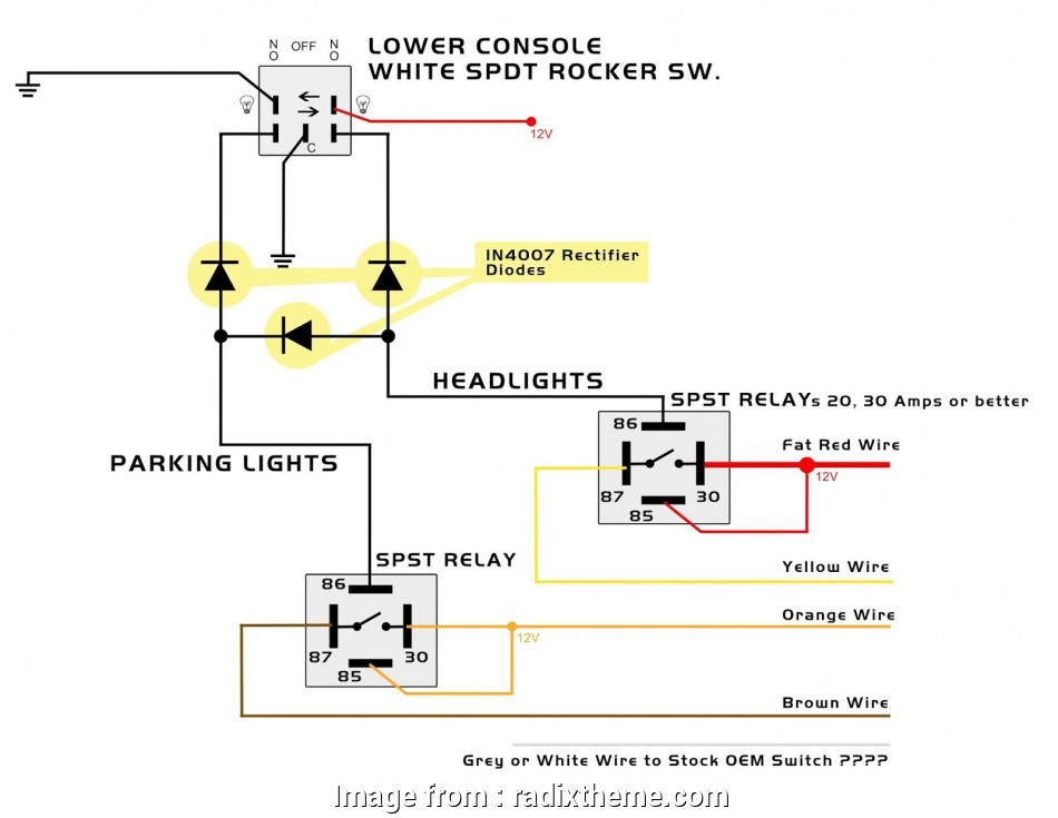 Toggle Switch To Relay Wiring Brilliant Dpdt Relay Wiring