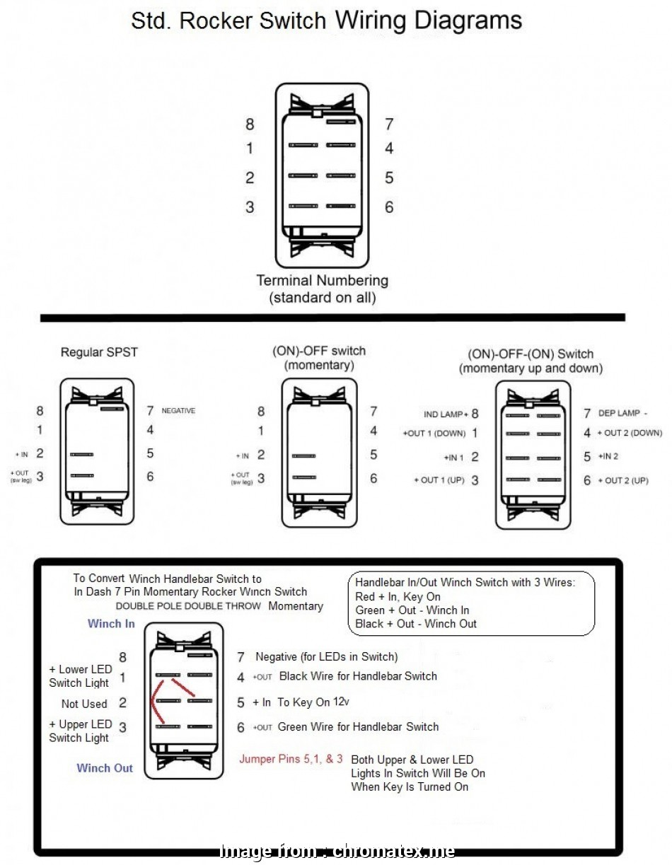 wiring diagram on off switch and led rocker