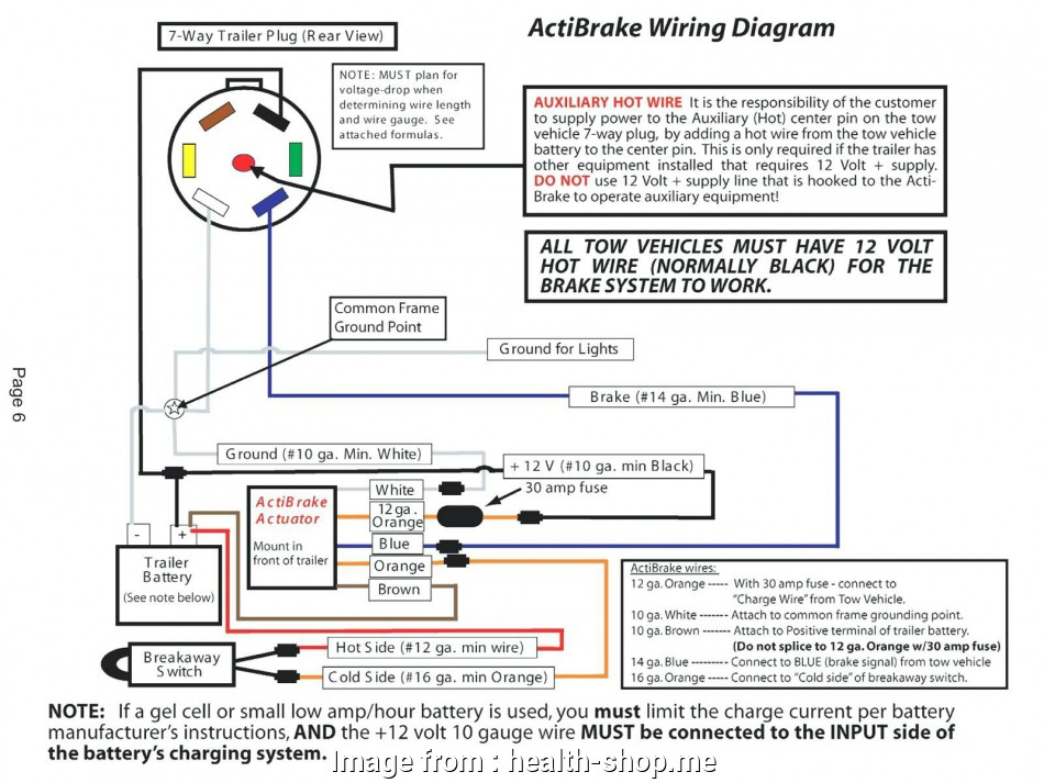 Trailer Brake Wiring Diagram With Battery Professional