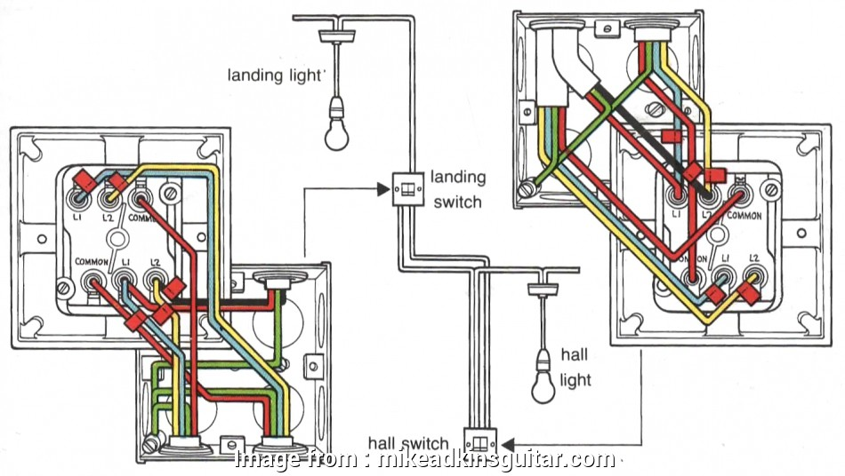 Two  Light Switch Wiring Diagram Uk Fantastic Wiring  Way