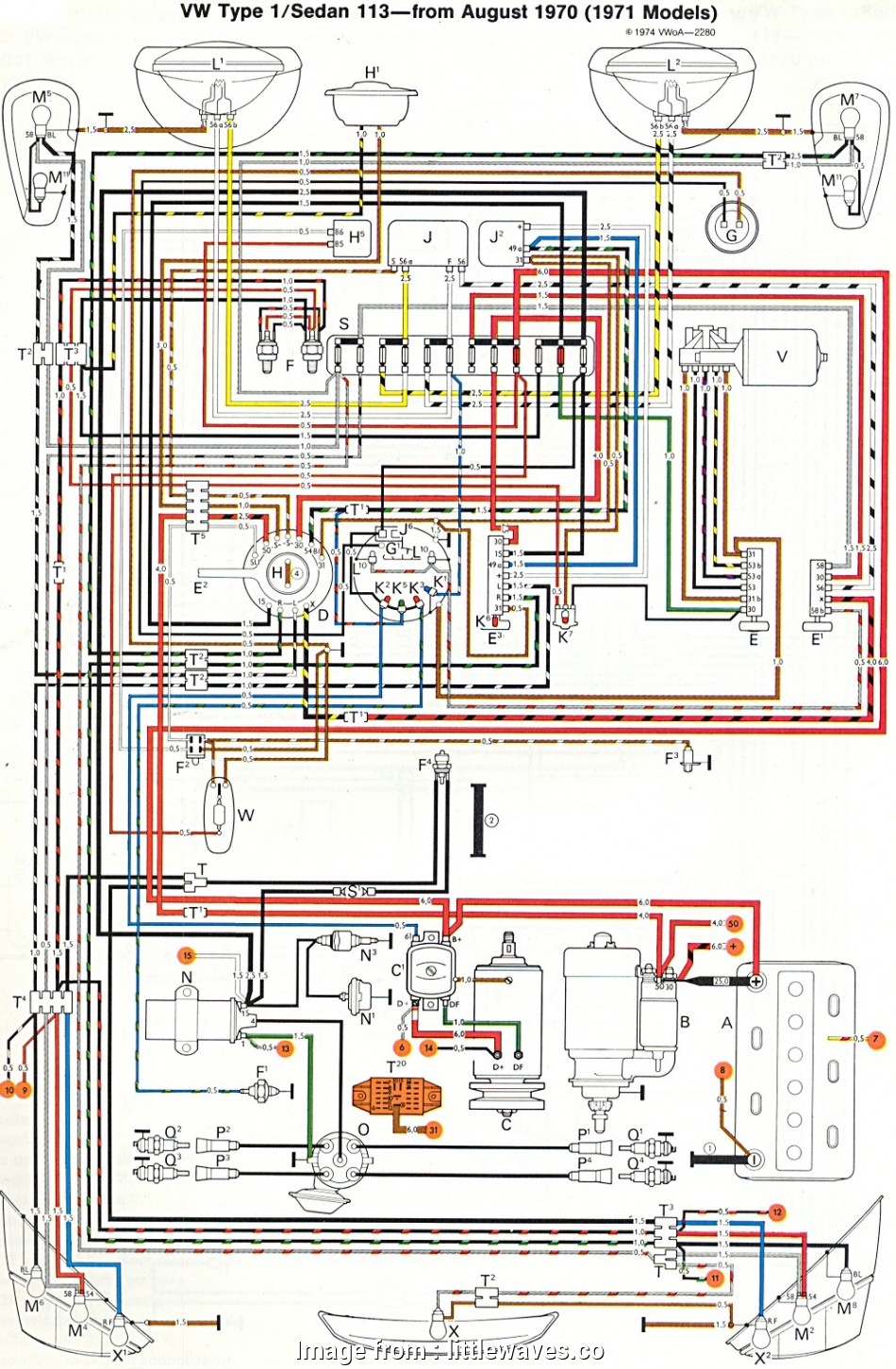 1970 Vw Beetle Headlight Switch Wiring Diagram from tonetastic.info