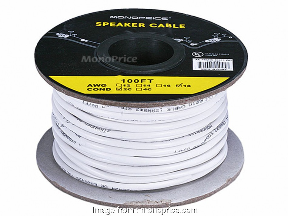 what gauge speaker wire for 25 foot run Monoprice Access Series 18AWG, Rated 2-Conductor Speaker Wire, 100ft-Small 8 Most What Gauge Speaker Wire, 25 Foot Run Images