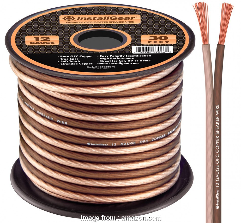 what gauge speaker wire for 30 foot run InstallGear 12 Gauge Speaker Wire, 99.9% Oxygen-Free Copper, True Spec and 19 Cleaver What Gauge Speaker Wire, 30 Foot Run Collections