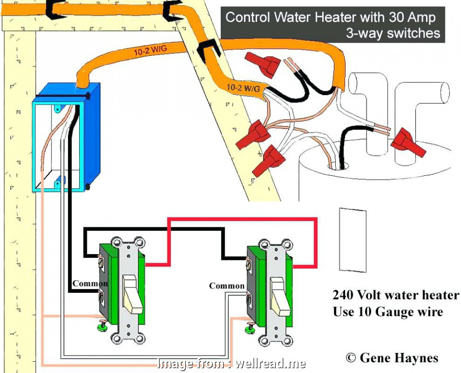 What Gauge Wire Do I Need  220 Volts Brilliant 220 Volt Water Heater Wiring Diagram In  Wellread