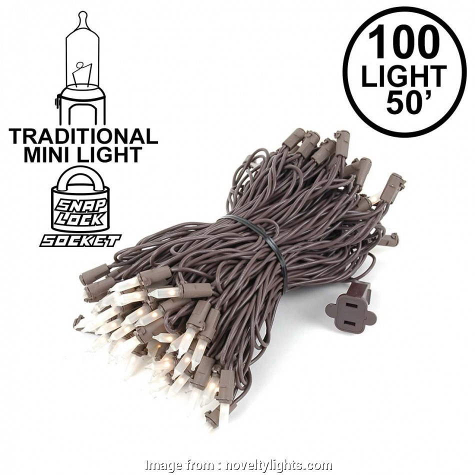 white christmas lights on brown wire Picture of Brown Wire Frosted White Christmas Mini Lights, Light 50 Feet Long 9 Practical White Christmas Lights On Brown Wire Photos