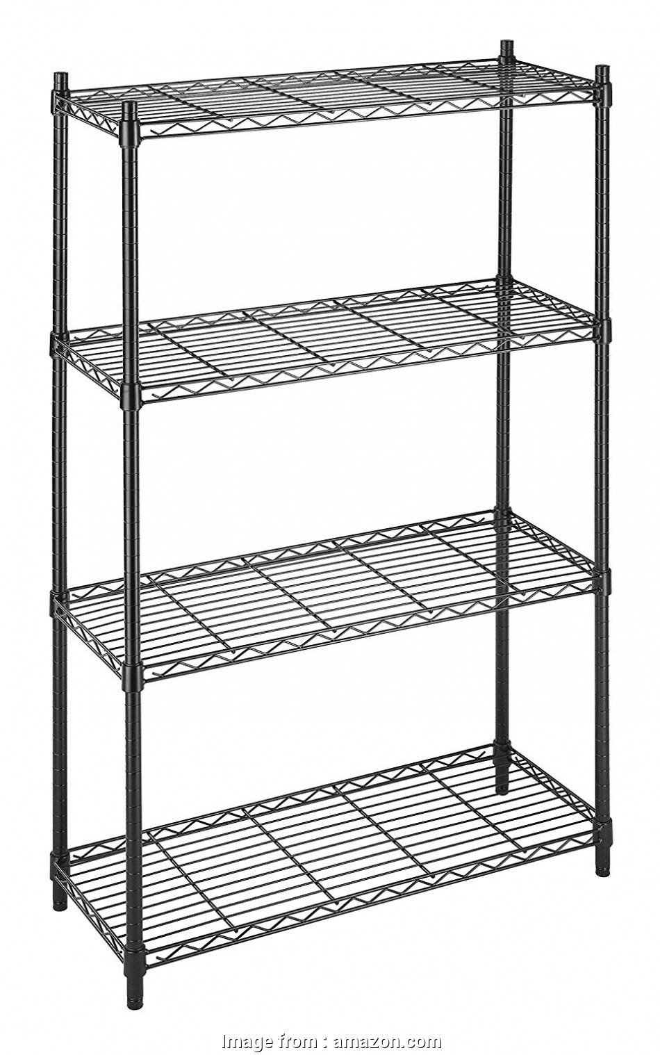 whitmor black wire shelving Amazon.com: Whitmor Supreme 4 Tier Shelving with Adjustable Shelves, Leveling Feet, Black: Home & Kitchen 10 Practical Whitmor Black Wire Shelving Solutions
