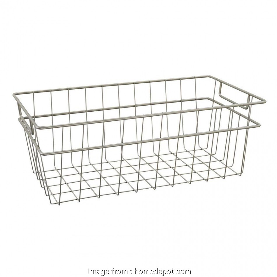 wire basket storage large ClosetMaid, in. x, in. Large Wire Basket in Nickel 13 Most Wire Basket Storage Large Galleries