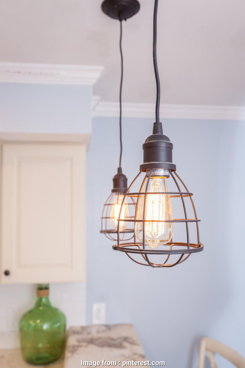 Wire Berry Basket Pendant Light Perfect Plug Into A Timer