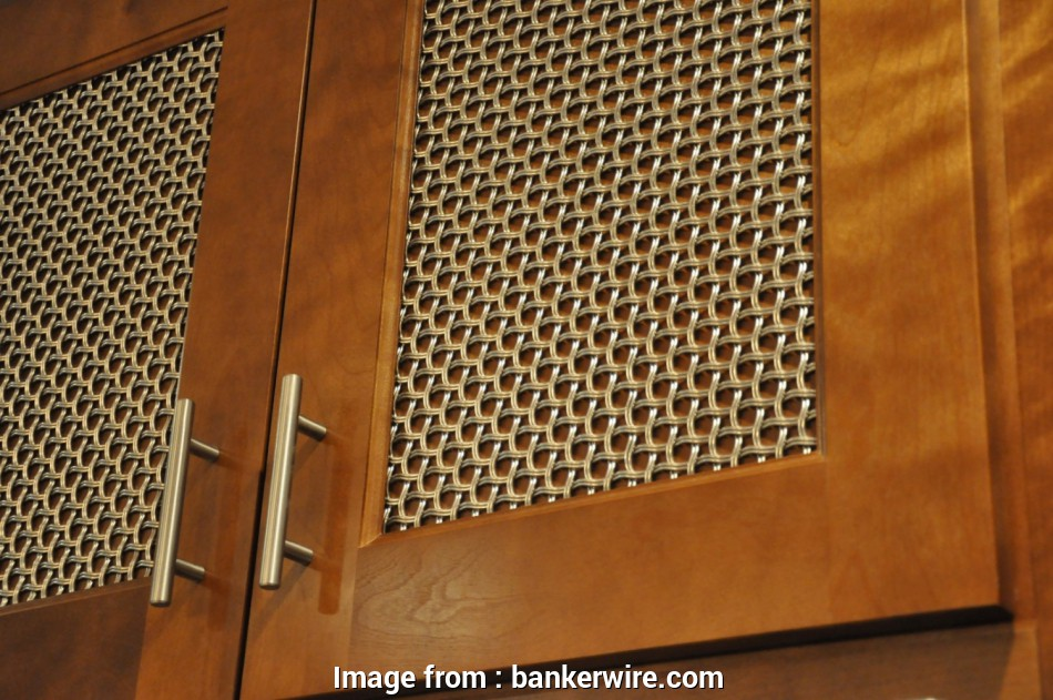 wire mesh cabinet door panels Woven wire mesh over wood inserts conceals, items within, cabinets, a neat appearance 19 Cleaver Wire Mesh Cabinet Door Panels Images