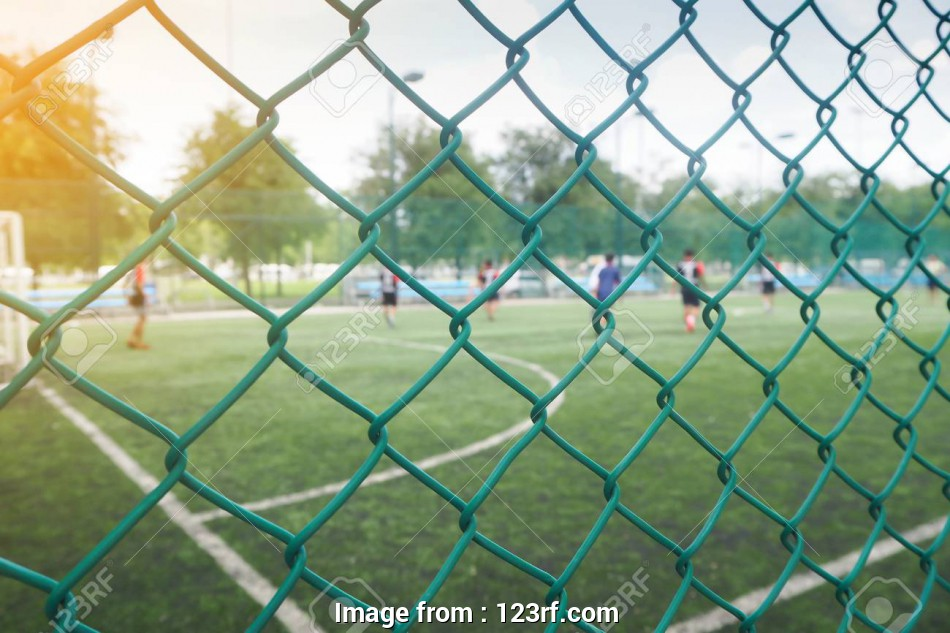 wire mesh fence thailand Stock Photo, Wire mesh fence from football field with competitive in, public areas in, Thailand country 14 Best Wire Mesh Fence Thailand Images