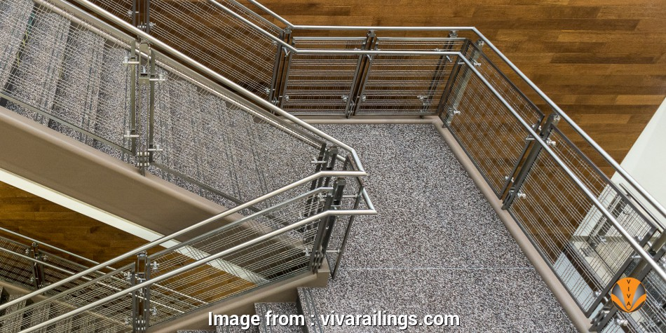 wire mesh railing Stainless Steel Wire Mesh Railing, VIVA Railings BLADE™ Wire Mesh 13 Creative Wire Mesh Railing Images