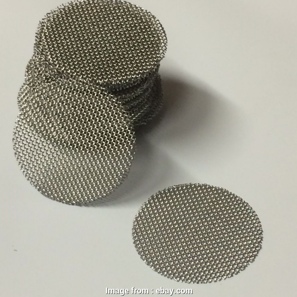 wire mesh screen disc 100 COUNT Stainless Steel T304 Wire Mesh Screen Filter Discs 5/8