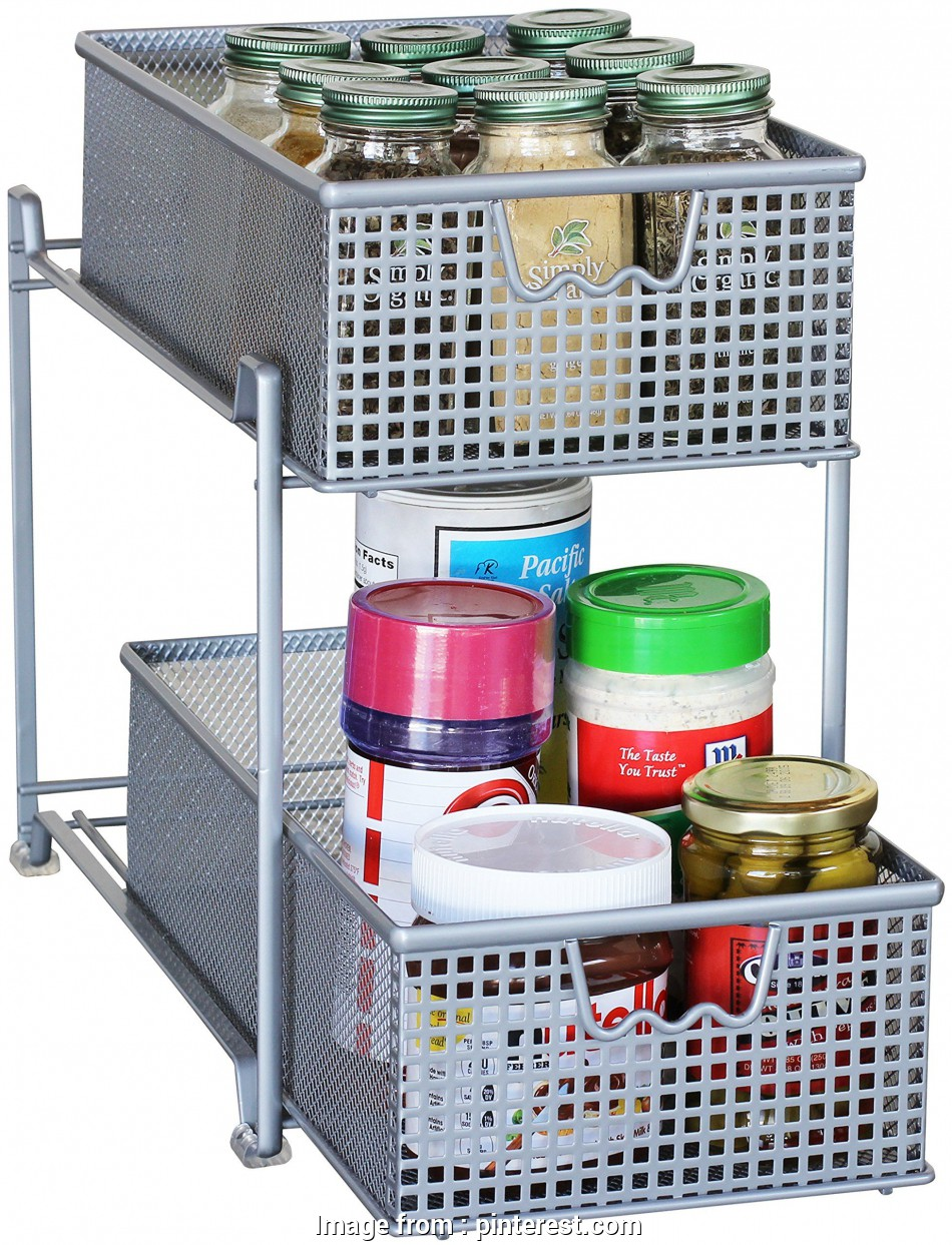 wire mesh sliding baskets Amazon.com, DecoBros, Tier Mesh Sliding Cabinet Basket Organizer Drawer, Silver, Shelf Baskets 13 Brilliant Wire Mesh Sliding Baskets Collections