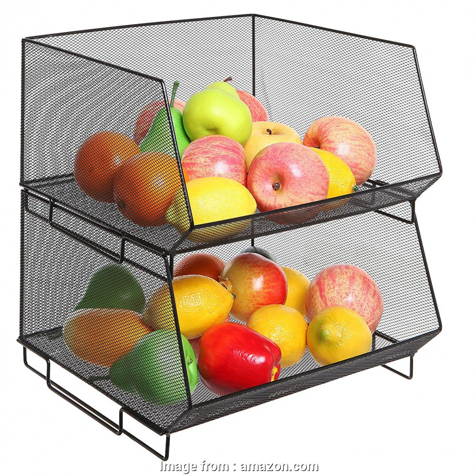 wire mesh vegetable baskets Amazon.com: Deluxe Stackable Black Metal Wire Mesh Fruit & Produce Basket Rack / Kitchen Stacking Storage Bin: Kitchen & Dining 11 Fantastic Wire Mesh Vegetable Baskets Collections