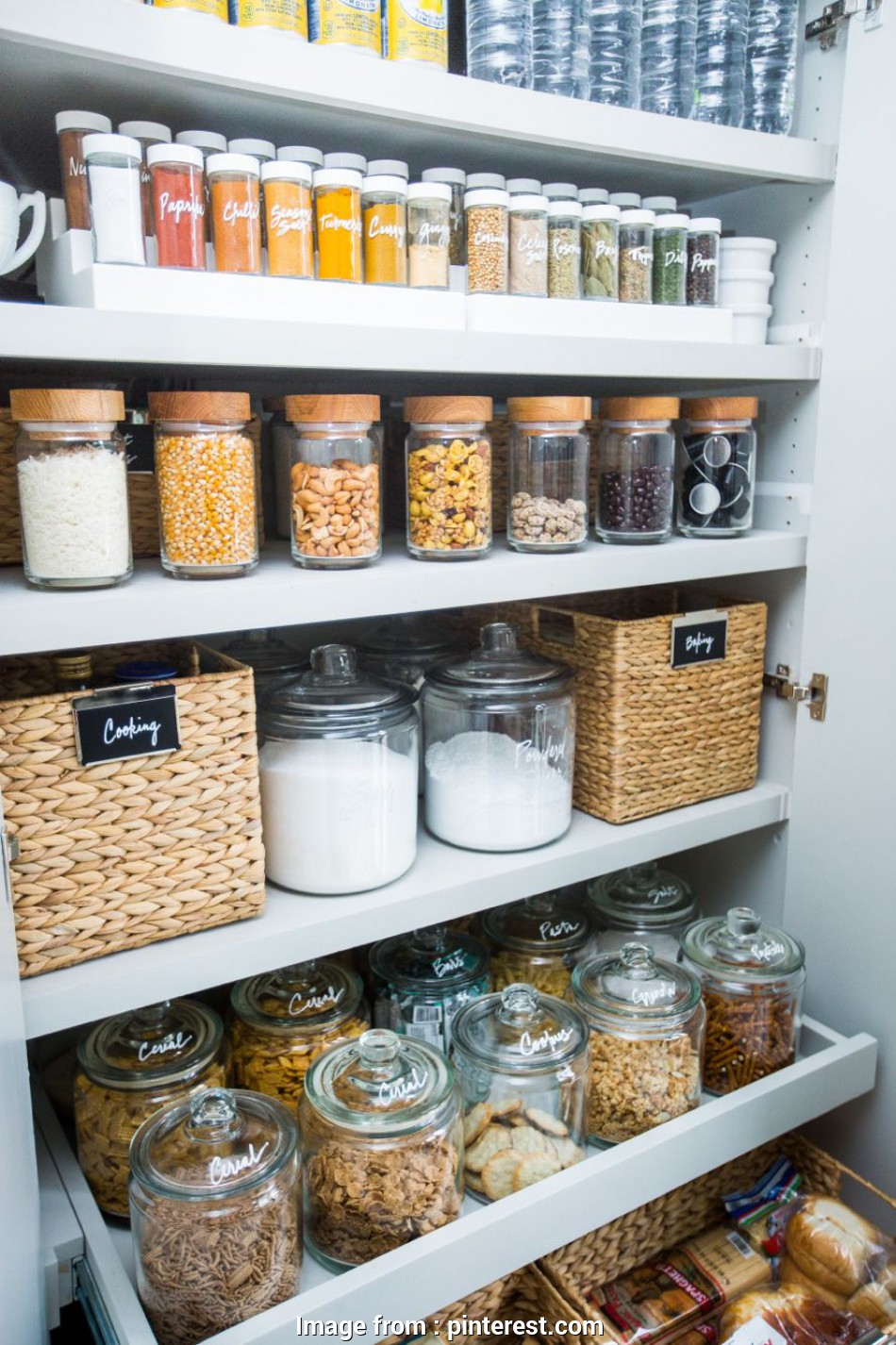 wire pantry storage bins Organised pantry using clever storage solutions such as baskets, jars, clear containers 9 Top Wire Pantry Storage Bins Pictures
