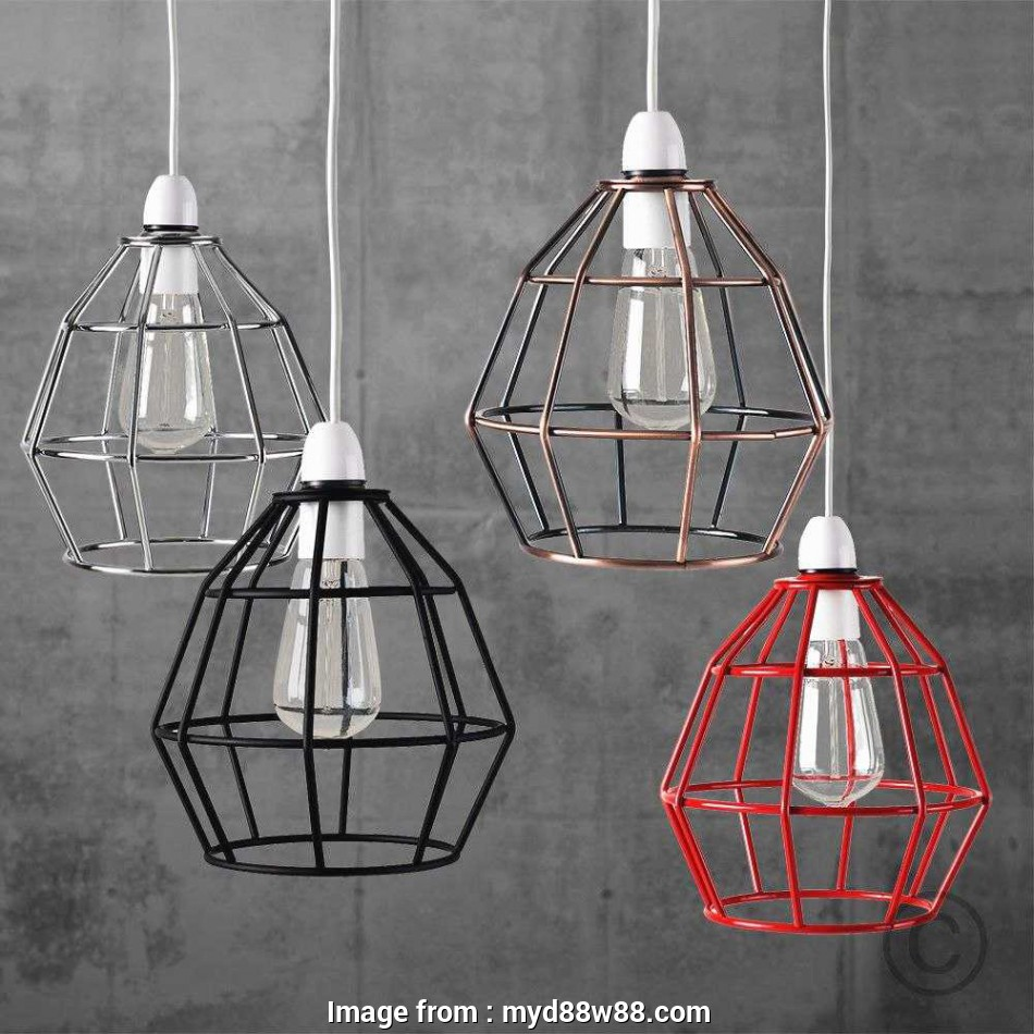 wire pendant lamp shade Diy Pendant Light Shade Elegant Vintage Industrial Style Metal Cage Wire Frame Ceiling 9 Creative Wire Pendant Lamp Shade Images