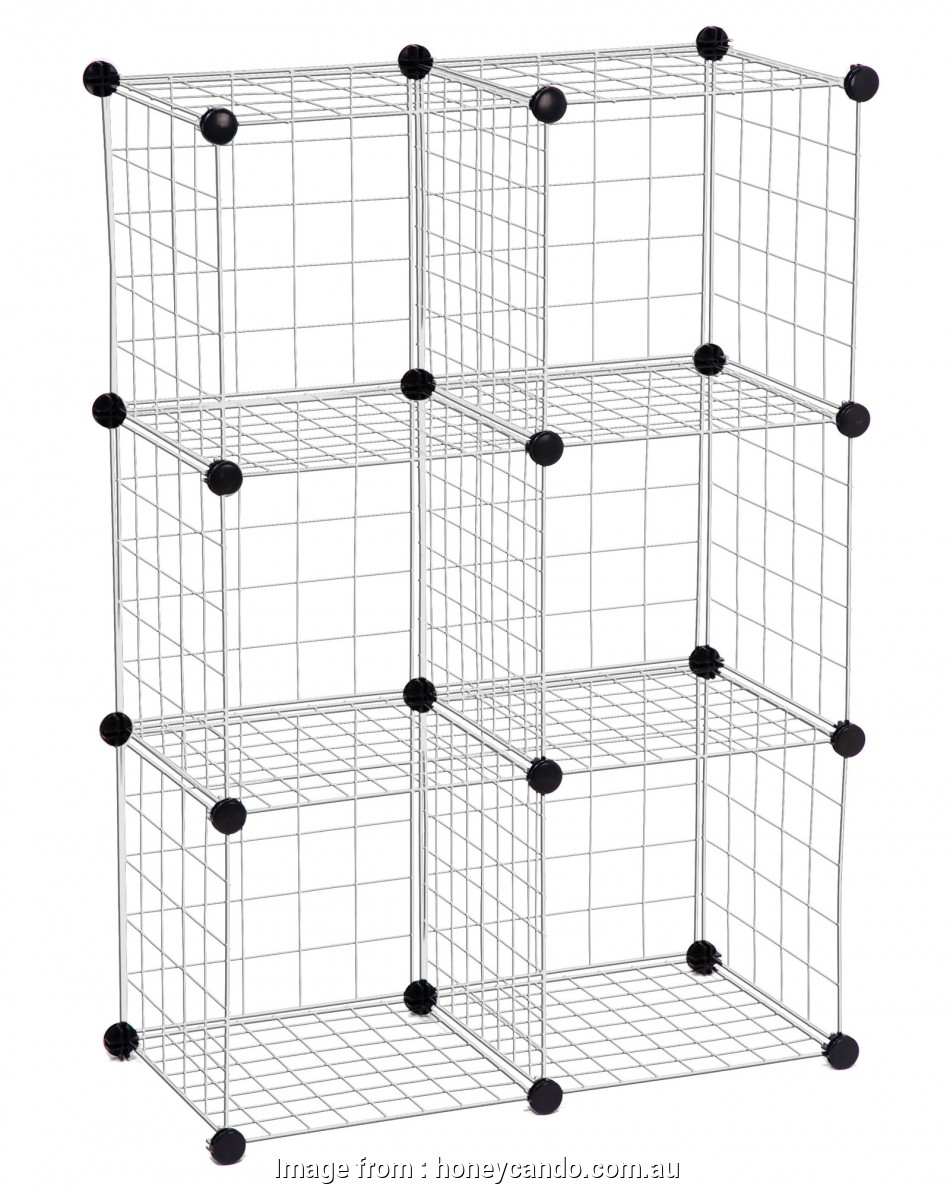 wire rack shelving australia 6-Pack Modular Mesh Storage Cube, Silver 13 Brilliant Wire Rack Shelving Australia Collections