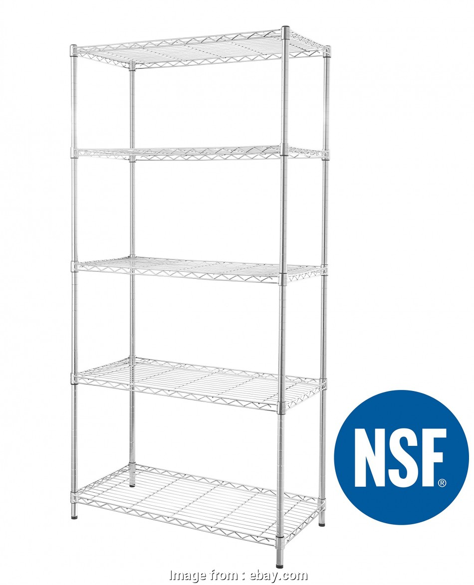 wire rack shelving ebay This is, best deal on eBay. HEAVY DUTY Steel Wire Shelving Storage Rack 36 x 18 x 72 inches 5-Tier 13 Brilliant Wire Rack Shelving Ebay Images