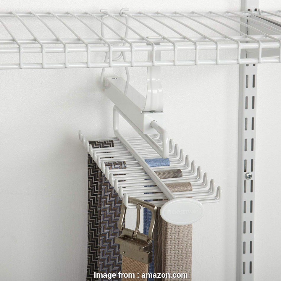 wire shelving tie rack Amazon.com: ClosetMaid 8060 Sliding, & Belt Rack, Wire Shelving, White: Home & Kitchen 16 Top Wire Shelving, Rack Solutions