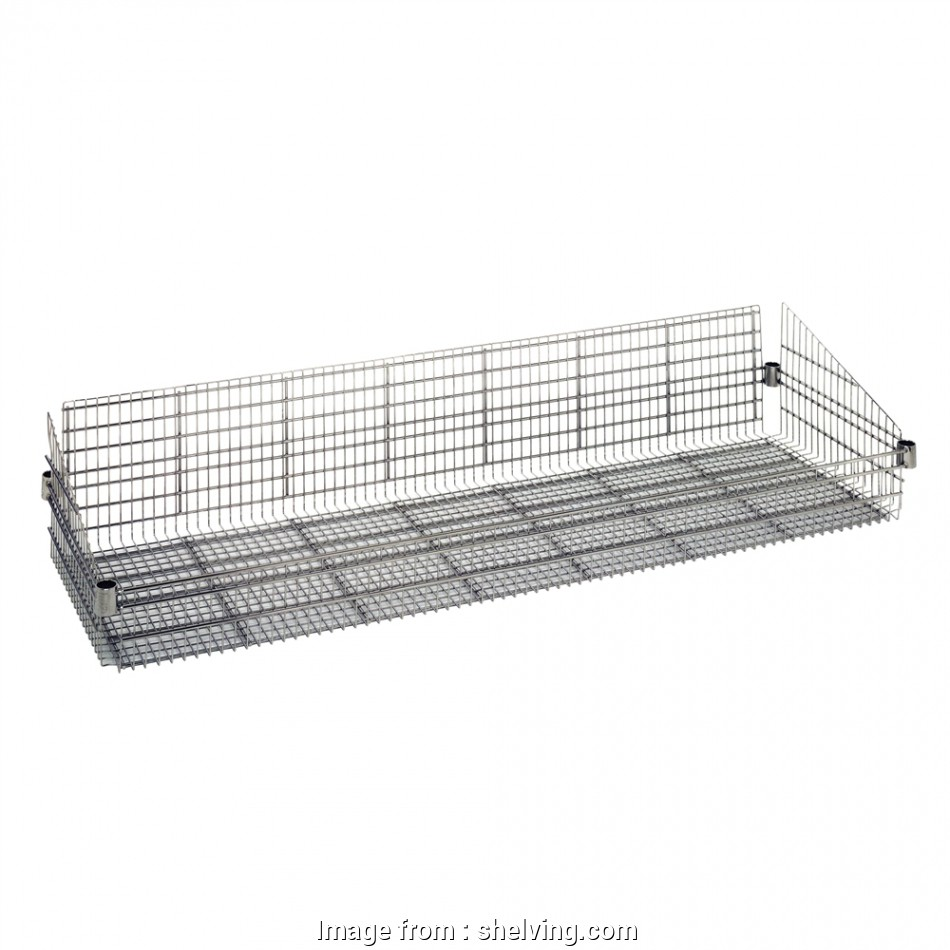 wire shelving with baskets 18