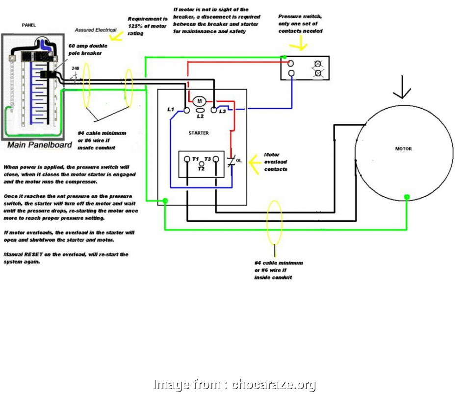Wire Size 50  Hot Tub Simple 220v  Tub Wiring Diagram  To Wire  Airr Single Phase Motor Reset In