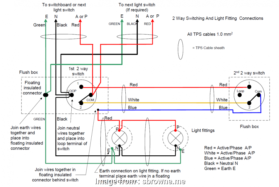 Wiring 2  Light Switch Junction Box Simple Two  Lighting