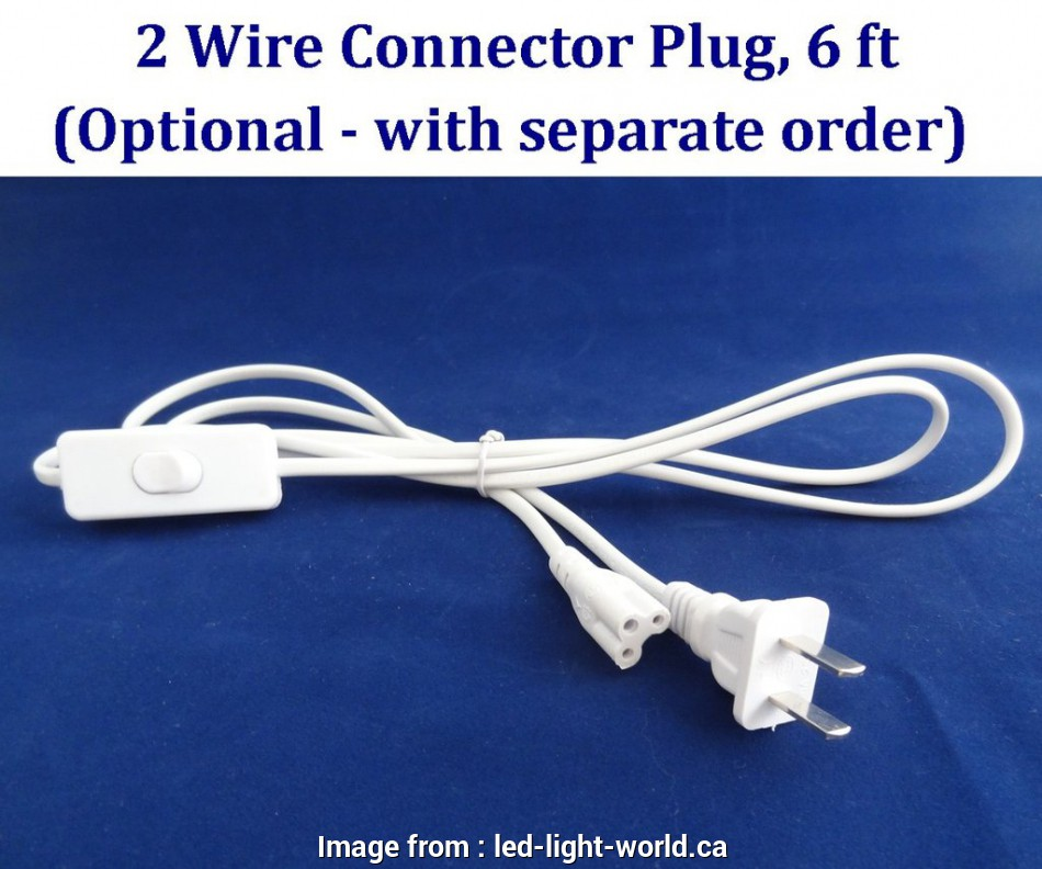 Wiring A Ceiling Light With 2 Wires Simple 2 Wire Connector Plug   For  Tube Ceiling Lights 120v