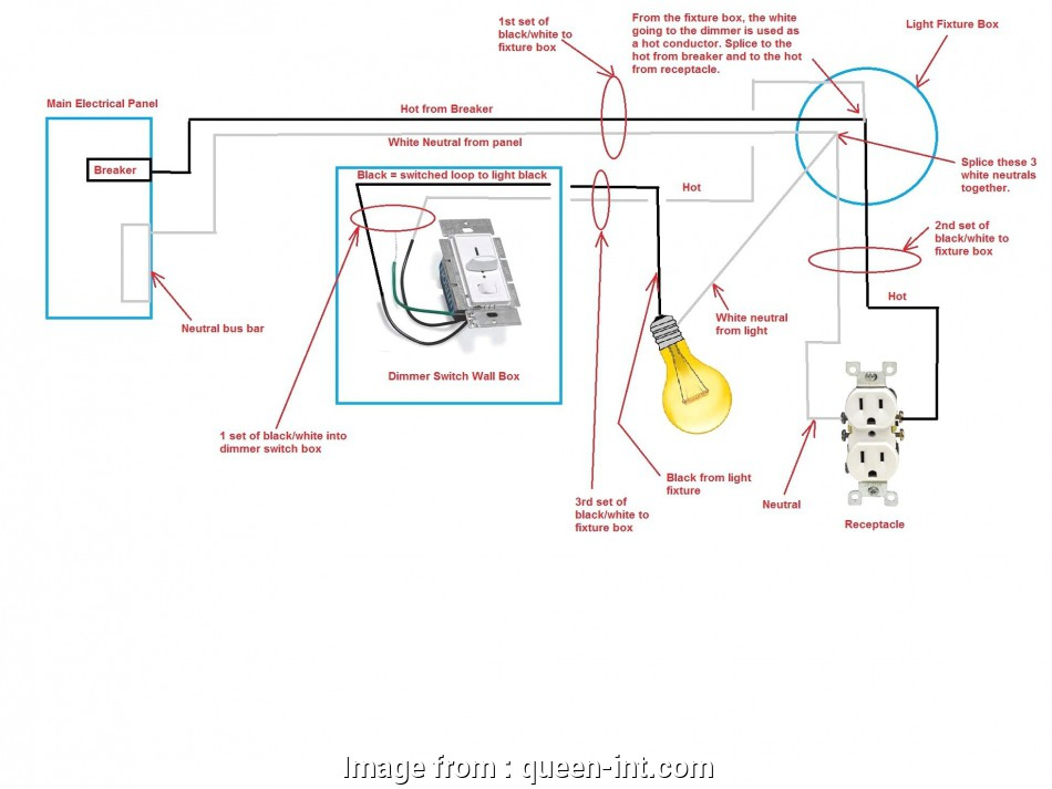 Wiring A Light Fixture From A Switch
