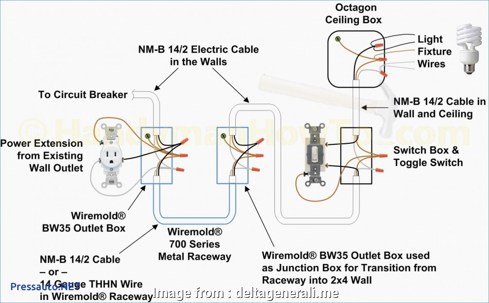 Wiring A Light Switch  Outlet Together Diagram Brilliant