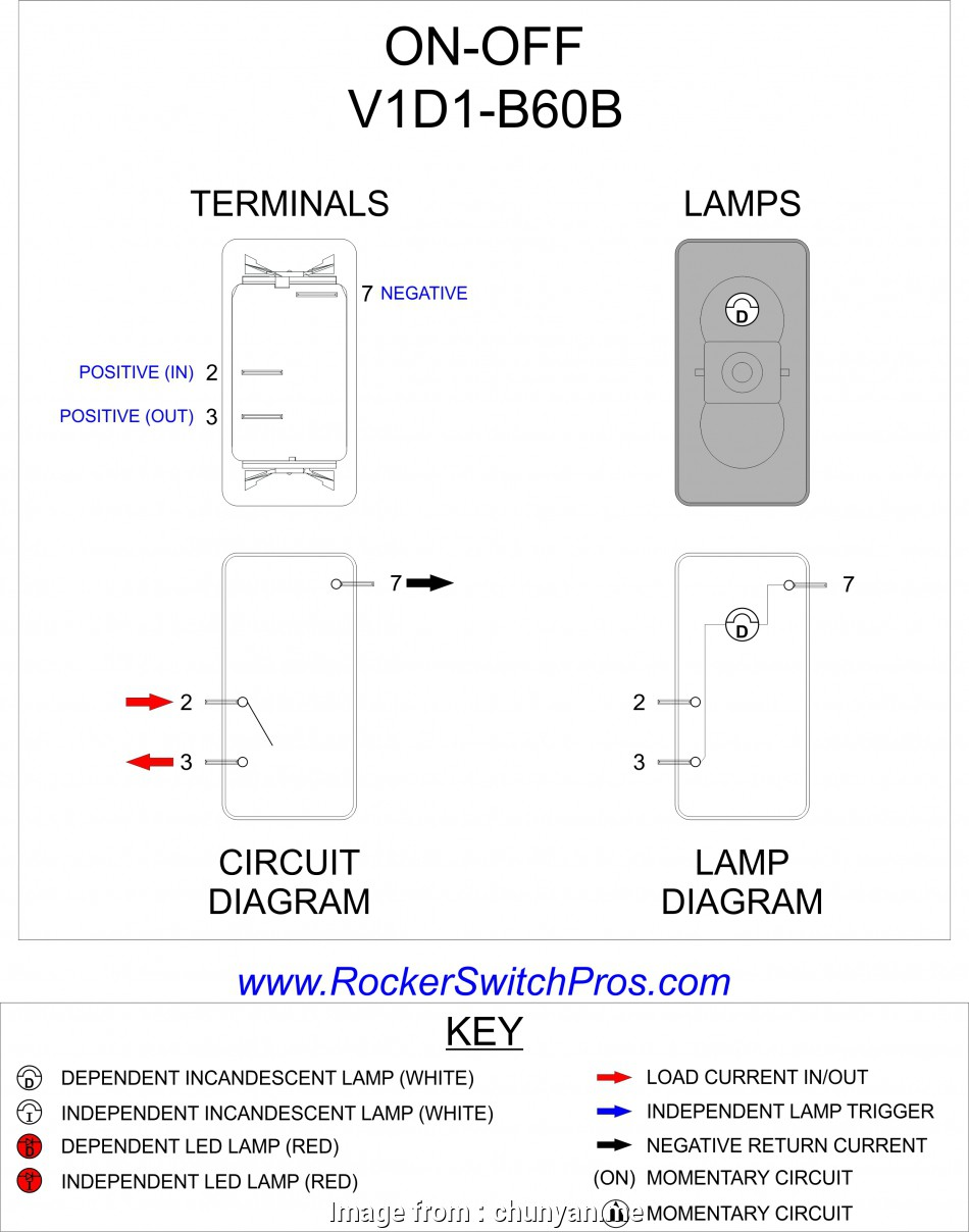 Rocker Switch Wiring Diagram Lighted Toggle Switch Wiring Diagram