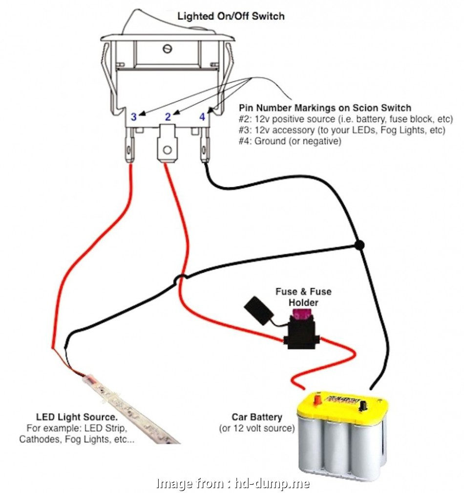 Wiring A Switch 12 Volt New Wiring Diagram 12 Volt Lighted Rocker Switch Amazon  At Toggle