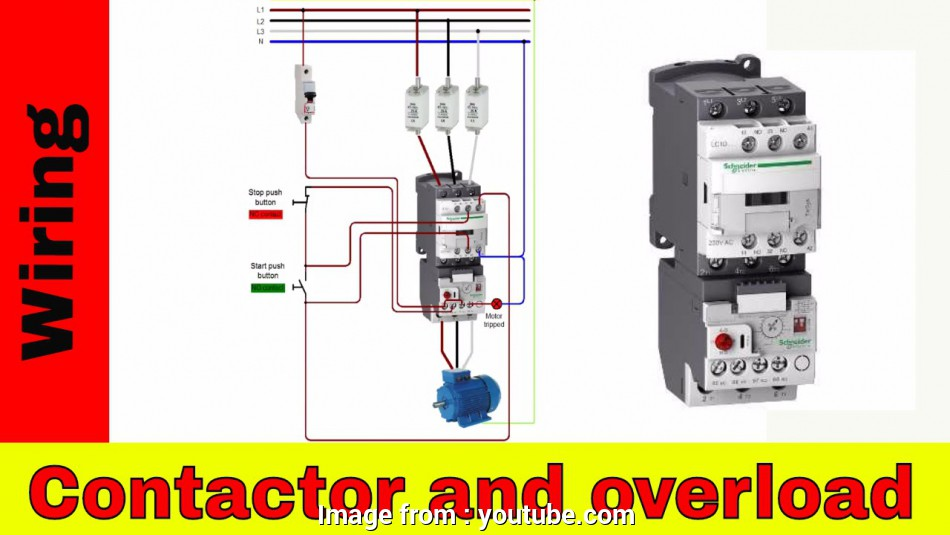 wiring a switch contactor How to wire a contactor, overload, Direct Online Starter., YouTube 14 Best Wiring A Switch Contactor Solutions